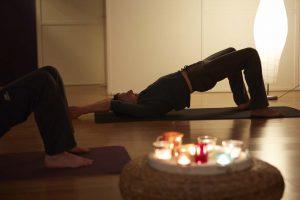 Yoga asana 2 potige tafel